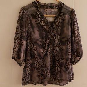 Beautiful cheetah print blouse